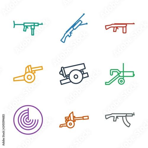 Fotografía  9 firearm icons
