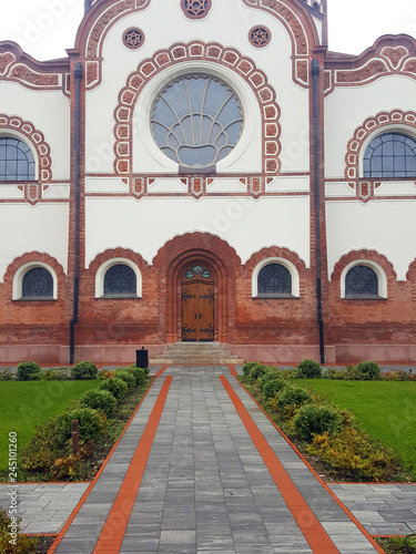 Photo  Synagogue entrance Subotica Serbia Europe