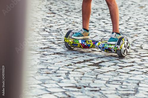 Fotografie, Obraz  Hoverboard, planche à roulettes motorisée
