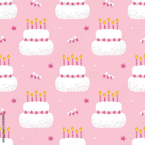 Astonishing Cute Birthday Cake With Lighting Candles And Party Decorations Funny Birthday Cards Online Eattedamsfinfo