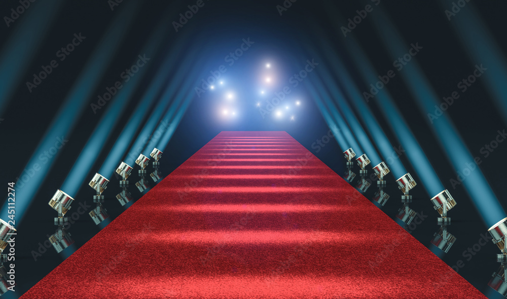 Fototapety, obrazy: red carpet and lights
