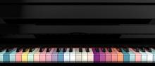 Colorful Piano Key Board