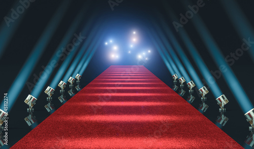 Fotomural  red carpet and lights