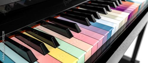 3d piano key board - 245112291