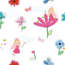 Summer Flowers, Butterflies An...