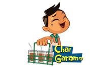 Chai Garam Sticker Cartoon Vector Illustration