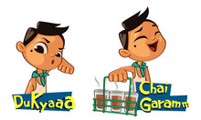 Chai Garam Sticker Vector Illustration