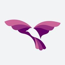 Flying Bird Vector Logo