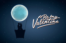 Be My Valentine. Silhouette Of...