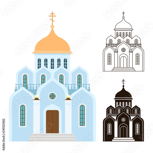 Orthodox churches vector icons Tableau sur Toile