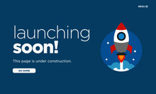 Launching Soon Page Design For Website