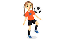 Illustration Of Young Soccer P...