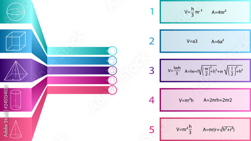 Geometry infographic template Fototapet
