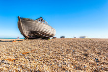 Old Fishing Boat On The Beach ...