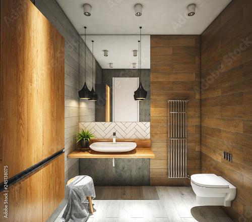 Photo  Interior of bathroom