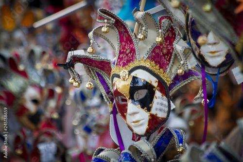 Fototapety, obrazy: Traditional Venetian carnival masks