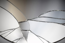 Crack And Broken Mirror In A F...