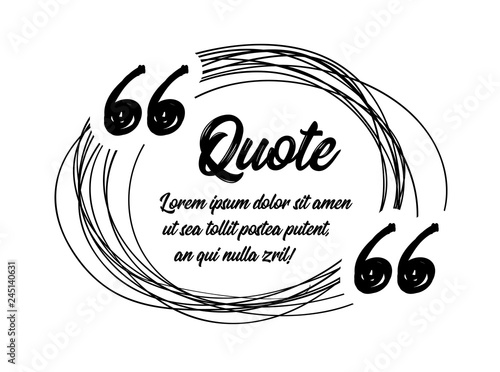 Photo Drawn quotes and a frame to highlight the frame, quotes and other text in the article, or as a separate element