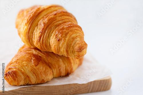 Fotografie, Tablou Croissants on white background