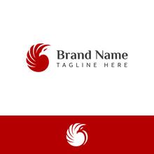 Bird Negative Space Logo