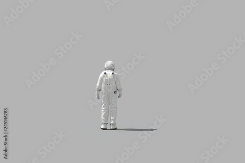 Photo  3d rendering space man on white background -  illustration