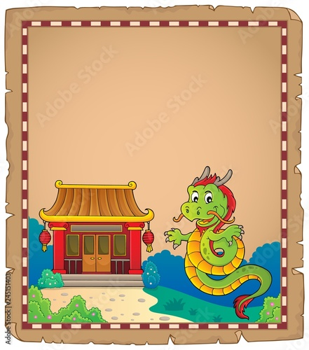 Chinese dragon topic parchment 1