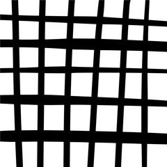 Czarno-białe tło stylizowane komórki kratki. Abstrakcjonistyczny geometryczny gingham wzór