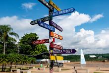 Three Borders Landmark. Puerto Iguazu - Argentina