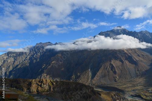Aluminium Prints Salmon view of mountains