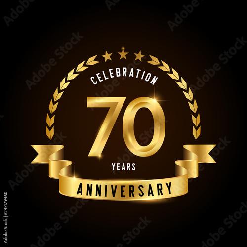 Fotografia  70 years anniversary celebration logotype