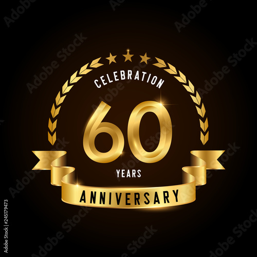 Fotografia  60 years anniversary celebration logotype