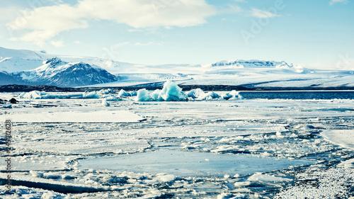 Photo sur Toile Bleu clair Islande