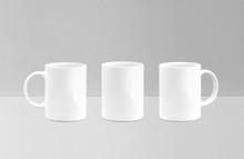 White Mug Mockup Isolated On G...