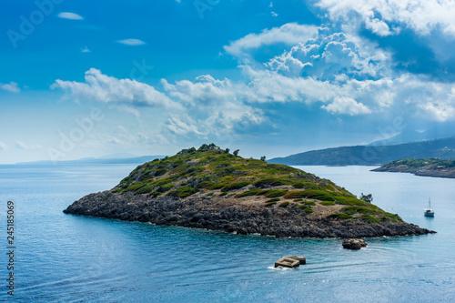 Fotografie, Obraz  Greece, Zakynthos, Little green island vardiola st nicholas at agios nikolaos po