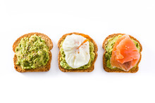 Toasted Breads With Avocado, P...