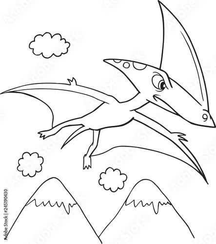 Dinosaur Vector Illustration Art