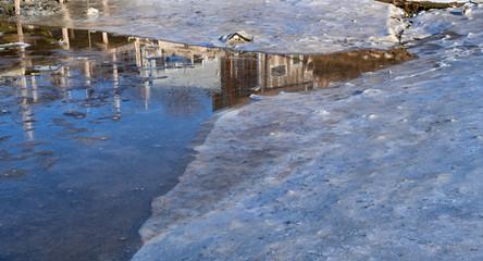 Icy shoreline in Maine