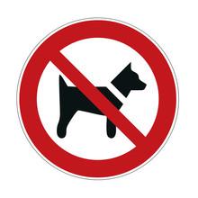Dog Forbidden Sign - No Dogs  ...