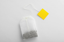 Unused Tea Bag With Tag On Whi...