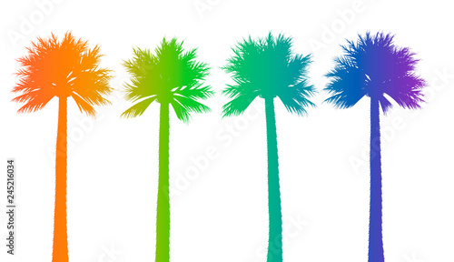 abstract background with palm trees Canvas Print