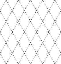 Seamless Geometric Diamonds Pattern. Criss-cross Lines Texture.