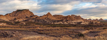 Scenic View Of Bardenas Reales...
