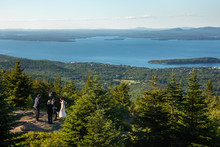 Wedding Photos On Top Of Cadil...