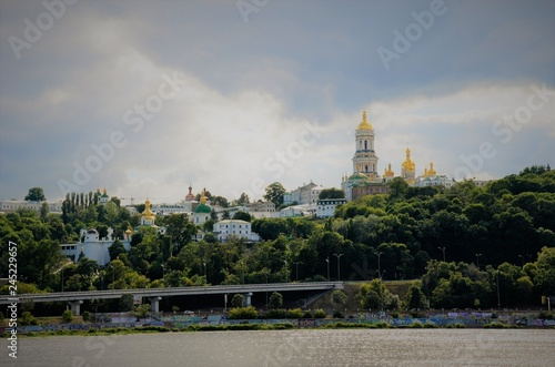 Staande foto Kiev View of Kiev from the middle of the Dnieper River.