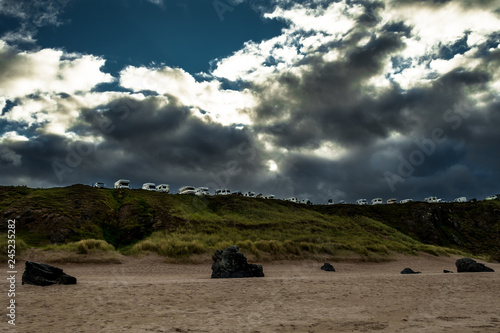 Foto Motorhomes At Sango Bay Camping In The Village Of Durness In Scotland