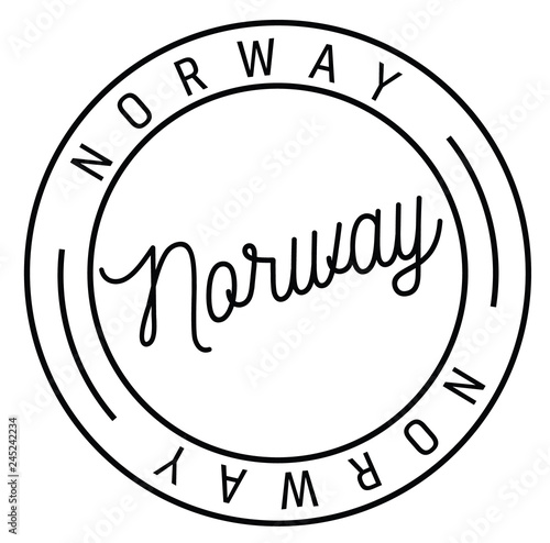 Photo  norway stamp