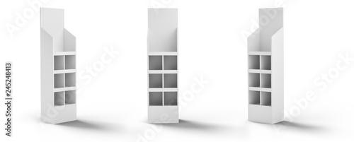 Obraz 3D rendering, display, stojak, wystawa - fototapety do salonu