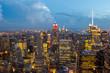 night view of city of new york