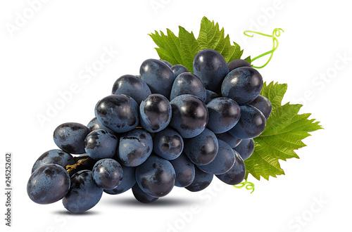 Fotografia, Obraz  Fresh grapes isolated on white background