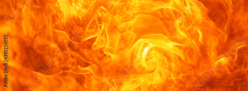 Poster Fire / Flame abstract blaze fire flame texture for banner background